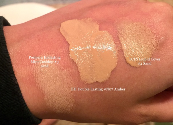 Double lasting swatches
